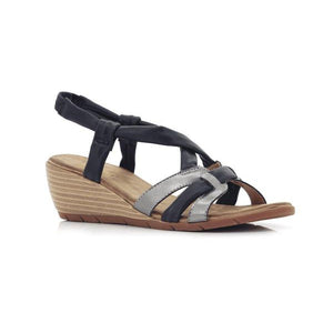 H79 Black BELLASIBA LADIES SANDALS at Shumaker