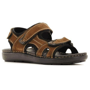 M30-MEN SANDALS-STEPWEL-Brown-41-Shumaker Shoes
