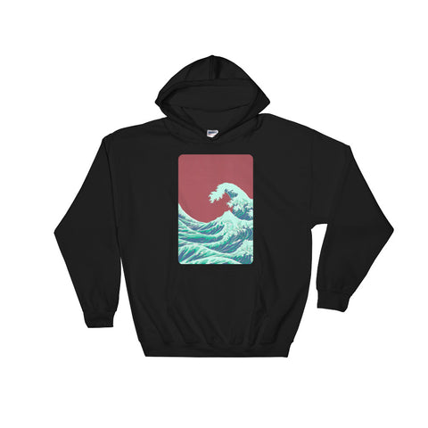 Hoodie_ONE: RED_WAVE