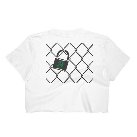 10 The Broadway- Chainlink Crop Top (Black Front)