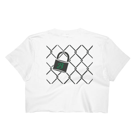 11 The Broadway- Chainlink Crop Top (Green Front)