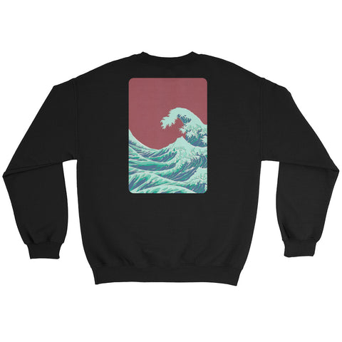 2Sides Hoodless : RED_WAVE