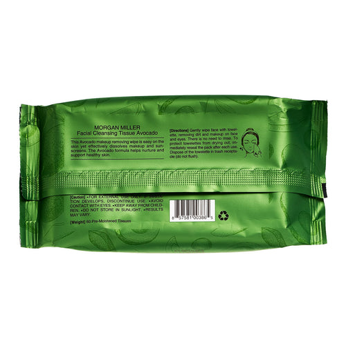 Facial Cleansing Wipes Avocado, 60 ct