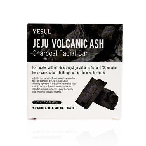 Charcoal jeju volcanic ash cleansing face bar soap