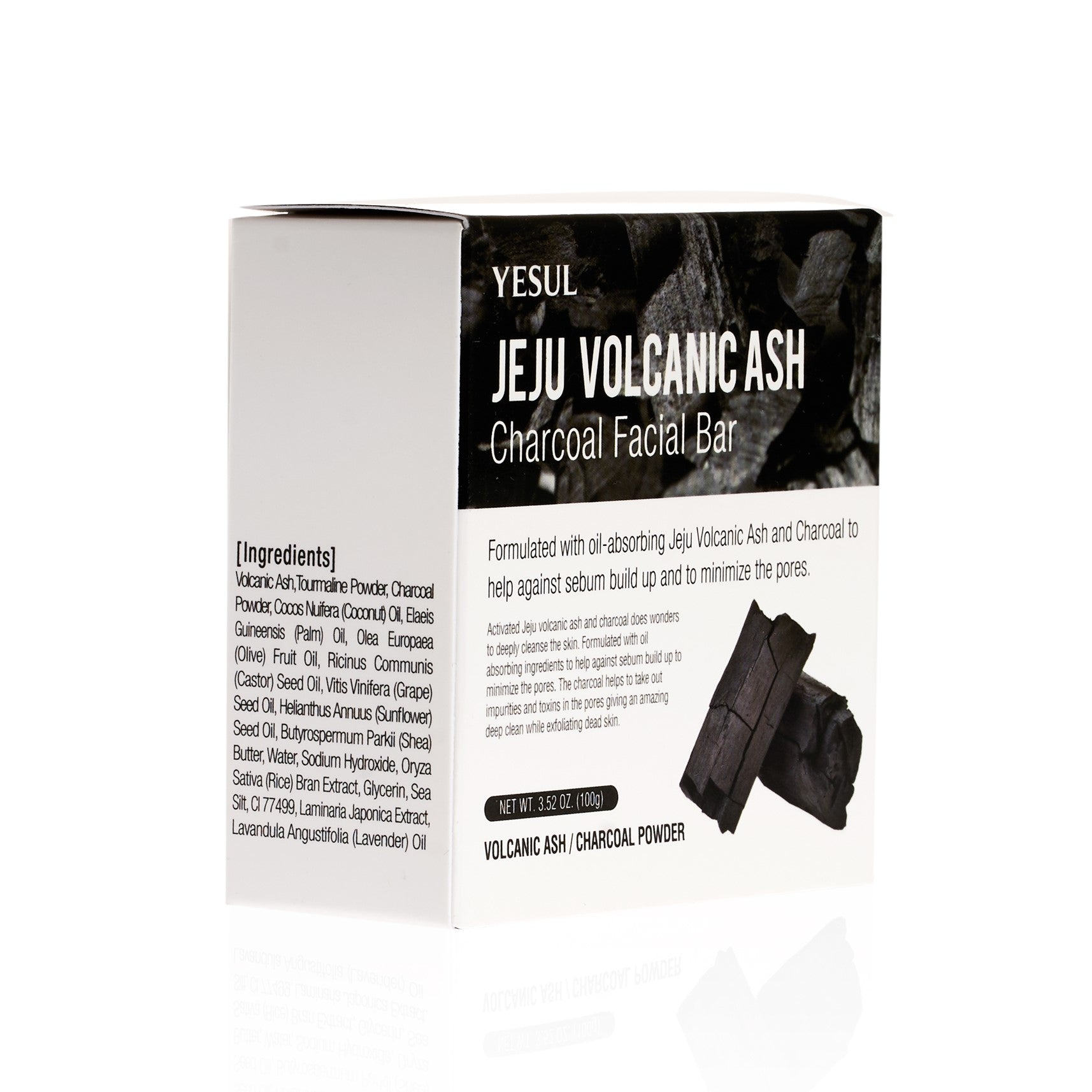 YESUL Jeju Volcanic Ash Charcoal Facial Bar ZGTS Titanium Micro 192 Needle Derma Skin Roller Acne Scar Wrinkle Anti-Age  0.75mm