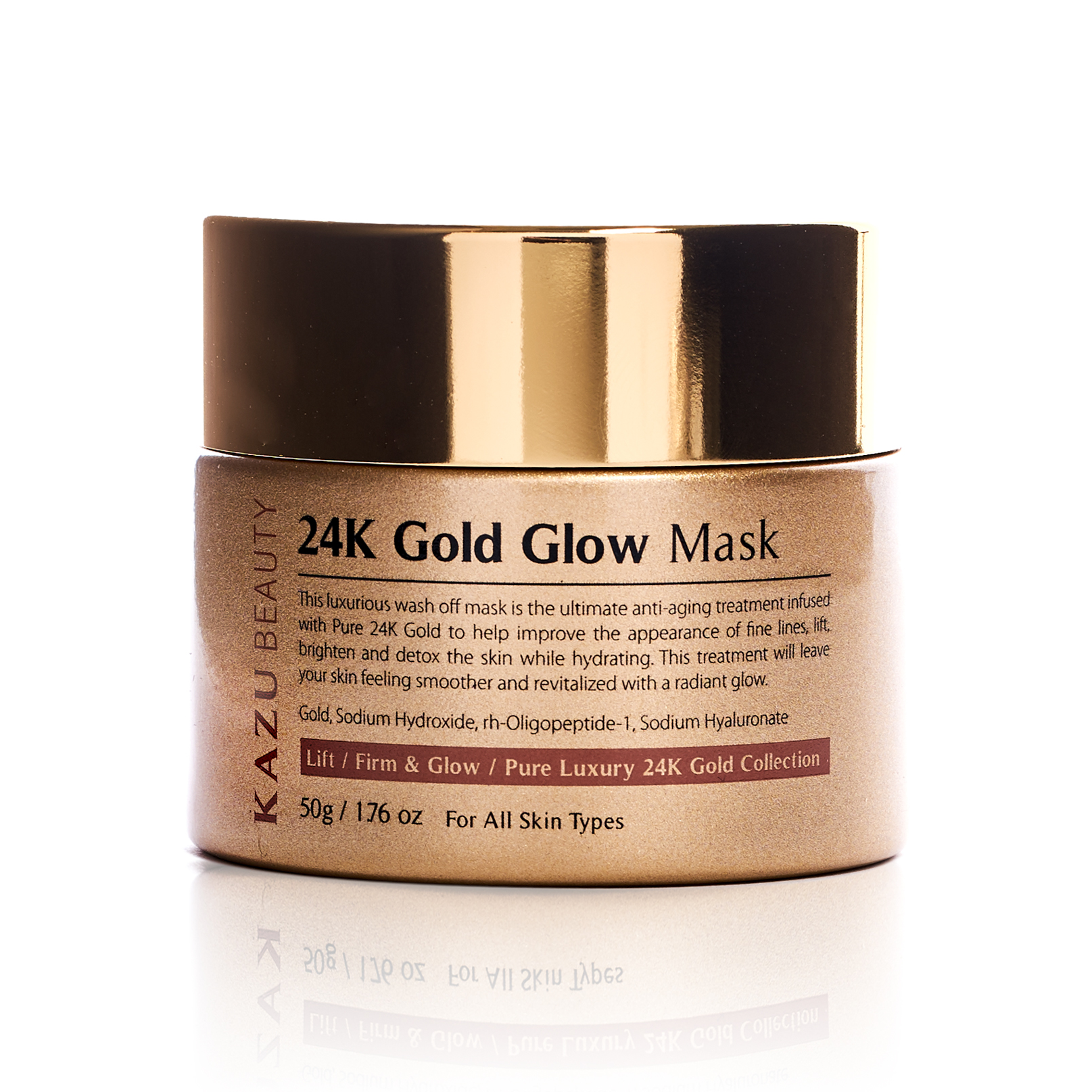 KAZU Beauty 24k Gold Glow Mask Container