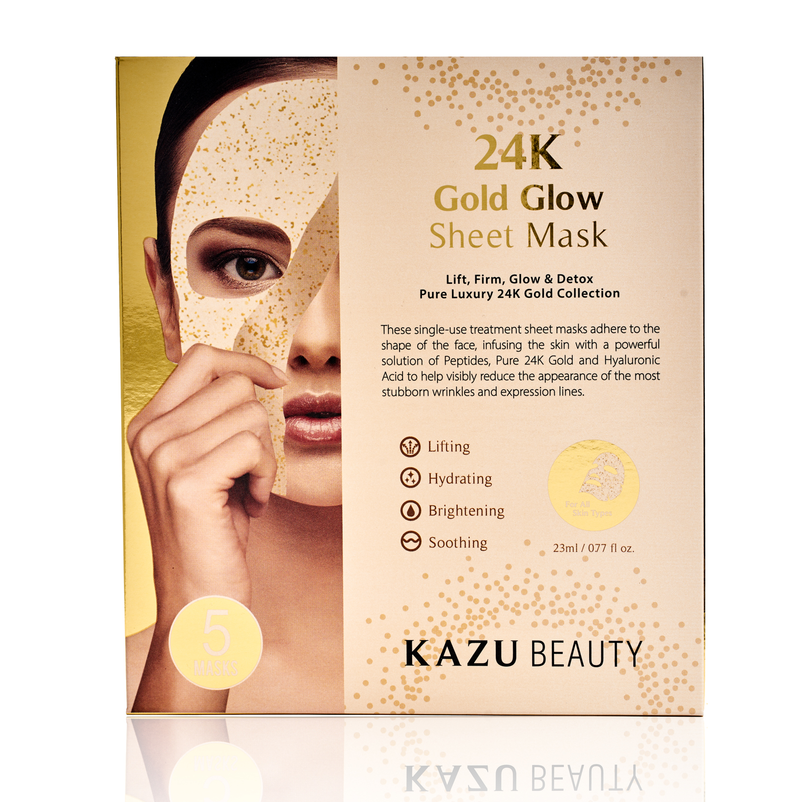 KAZU Beauty's 24k Gold Glow Sheet Mask