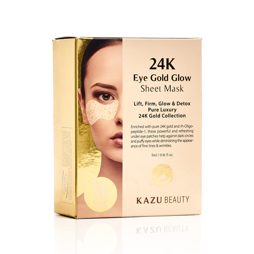 24k Eye Gold Glow Sheet Masks