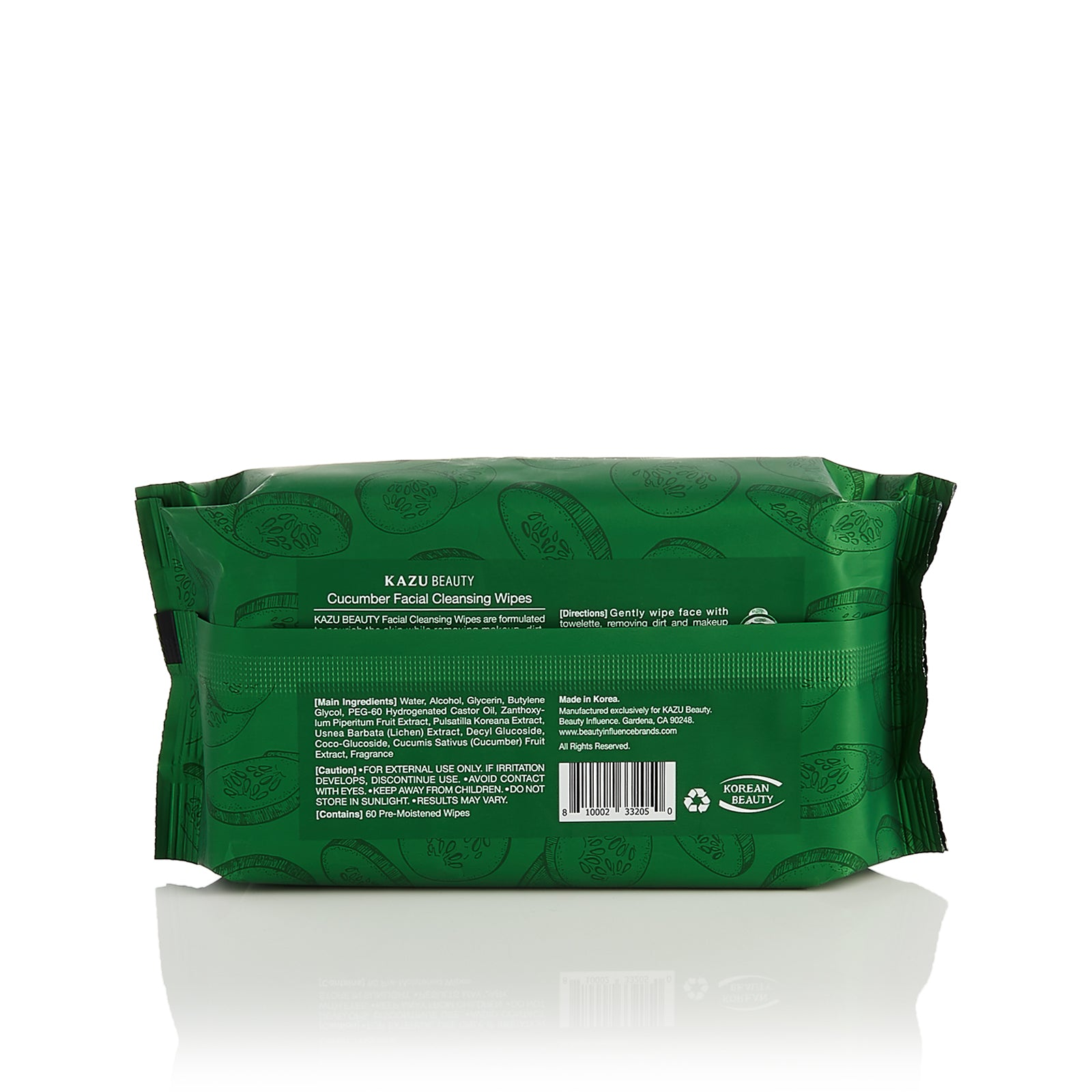 KAZU Beauty Cucumber Facial Cleansing Wipes