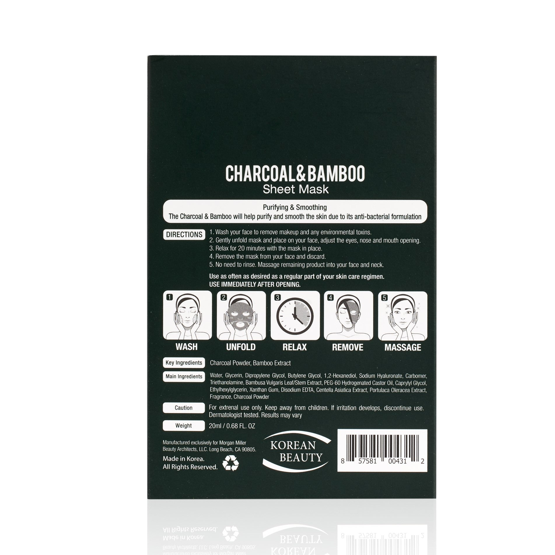 Charcoal & Bamboo Sheet Mask