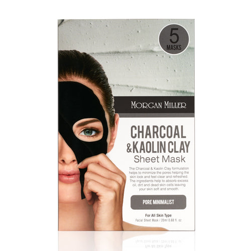 Charcoal & Kaolin Clay Sheet Masks