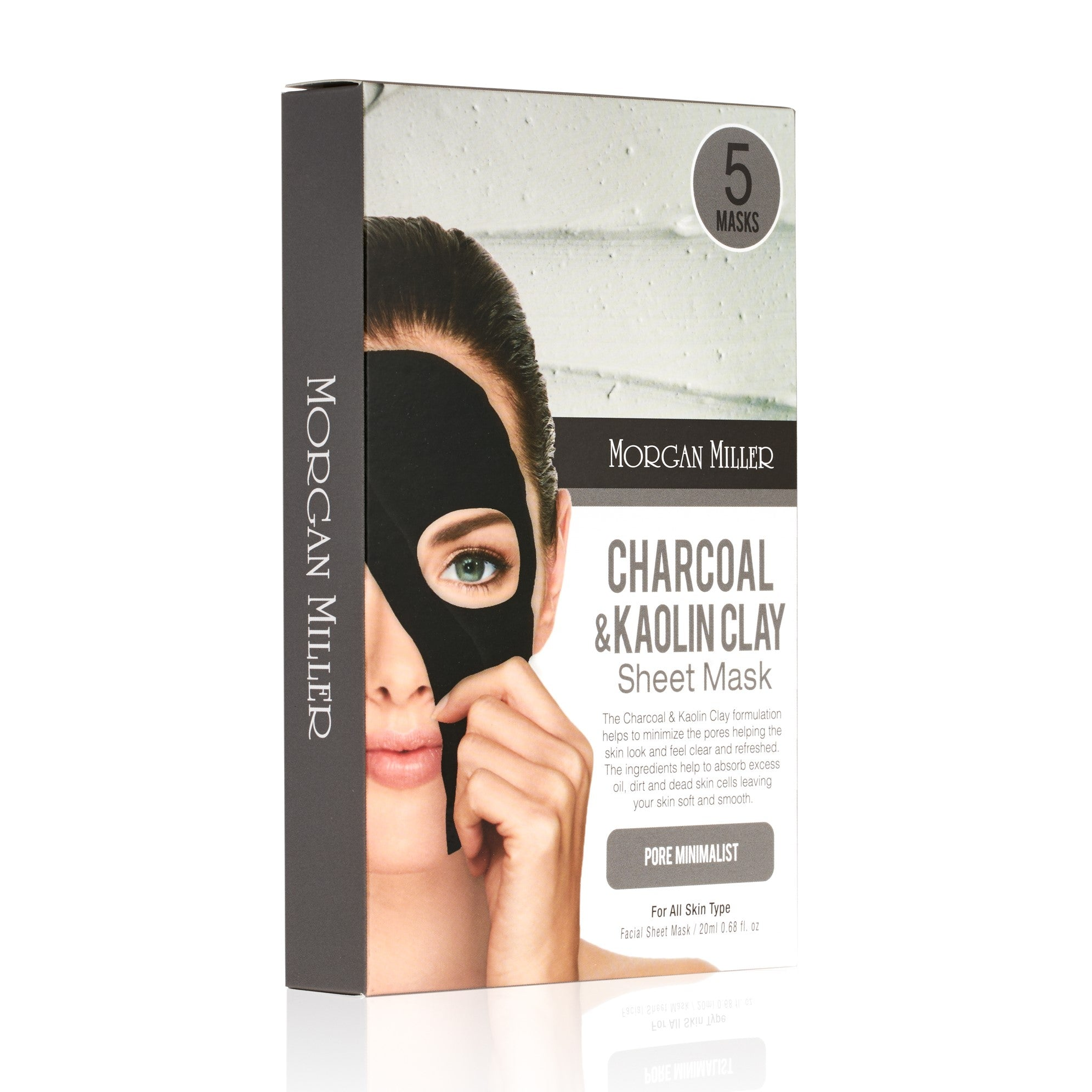 Morgan Miller Charcoal & Kaolin Clay Sheet Masks packaging