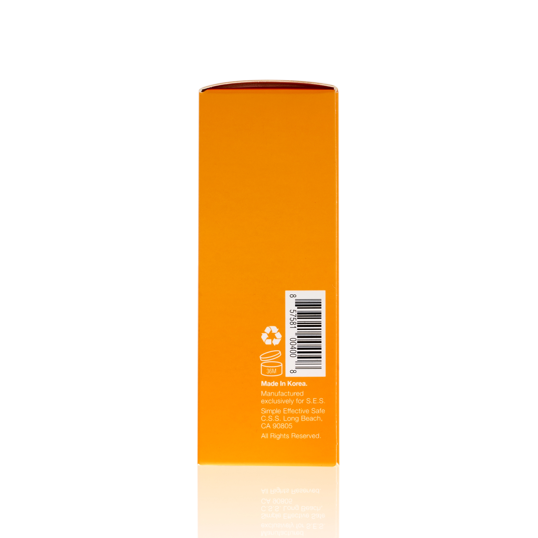 Side of S.E.S. Collagen Booster Firming Serum packaging