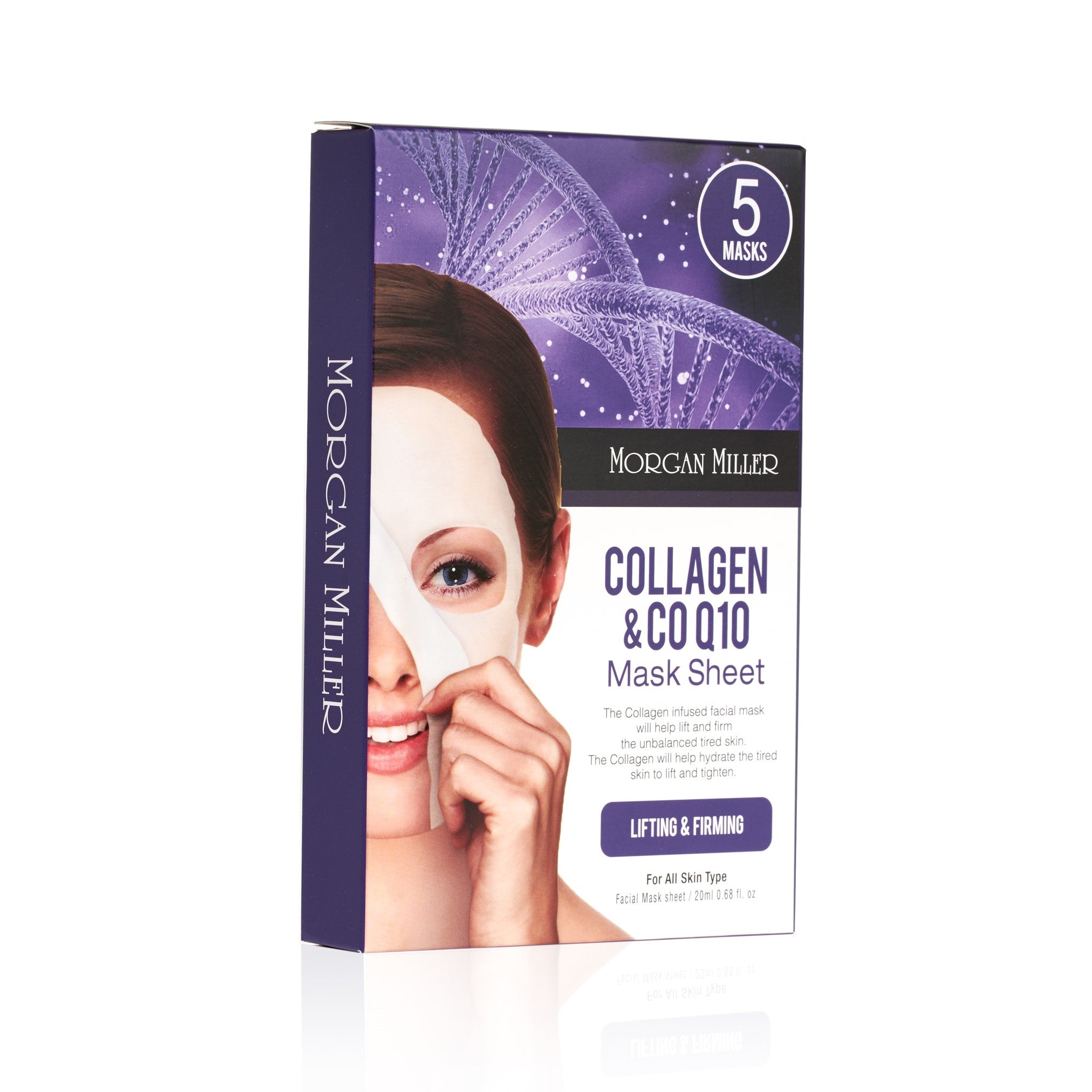 Morgan Miller Collagen Sheet Mask Packaging