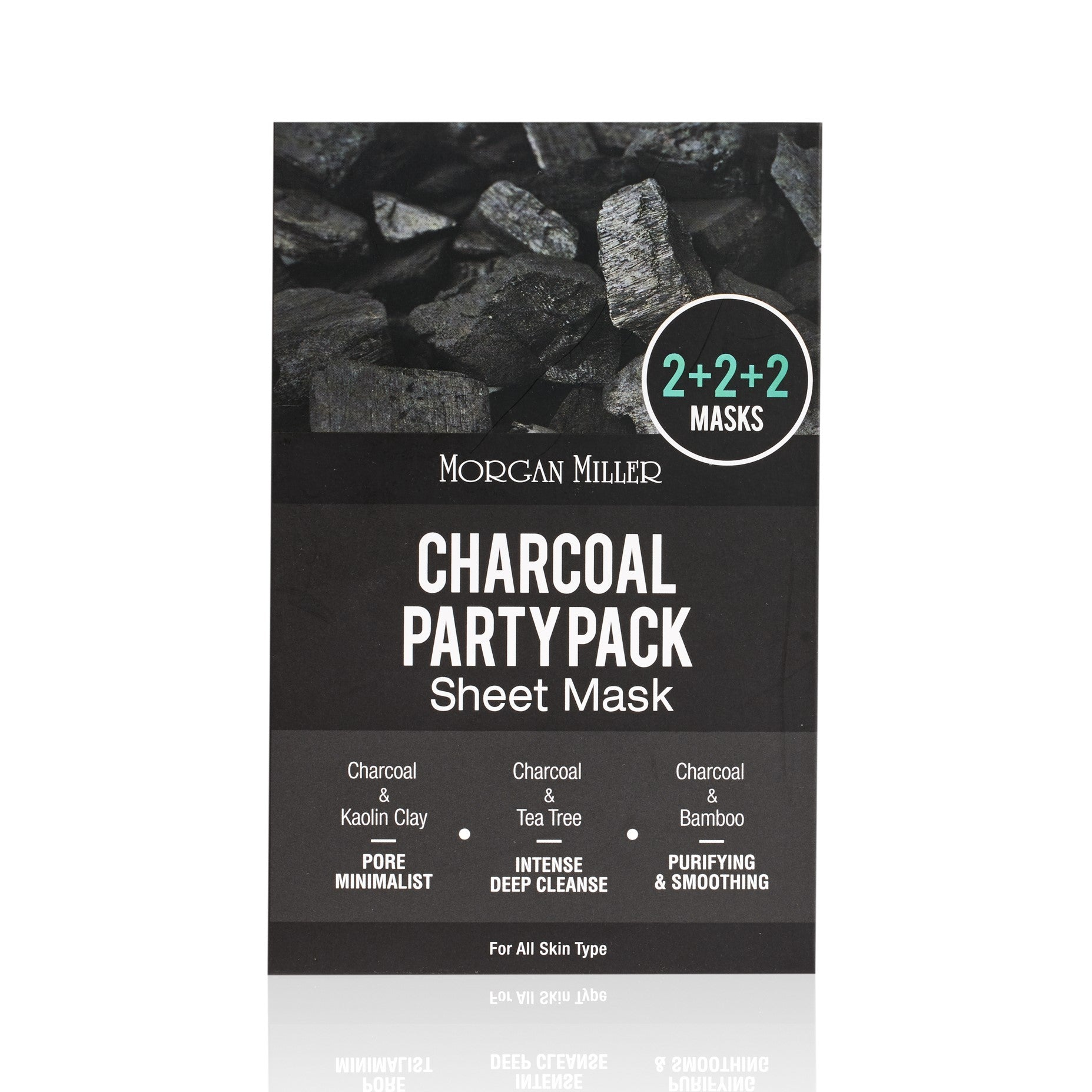 Morgan Miller Charcoal Party Pack Sheet Mask packaging
