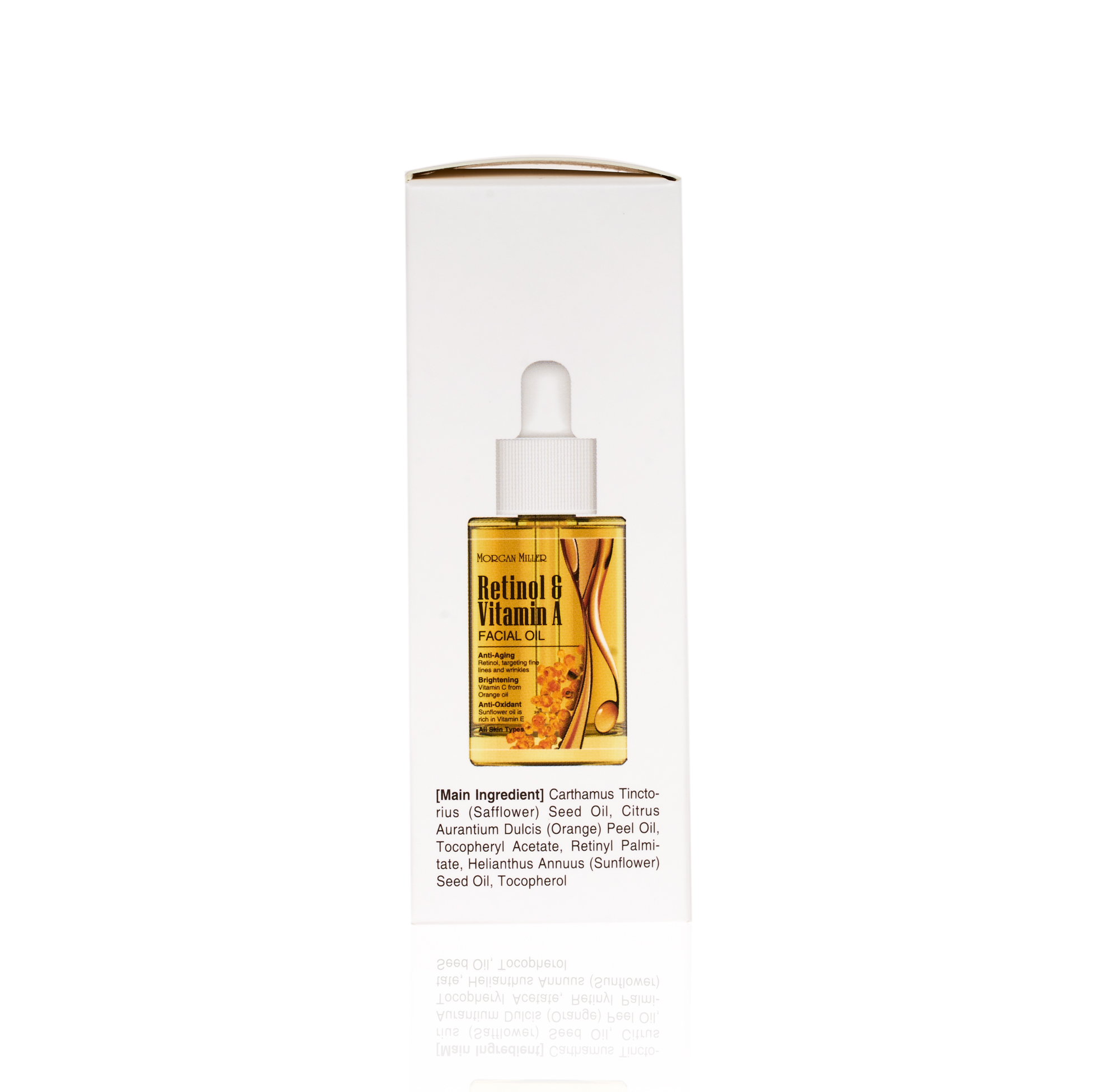 Side of Morgan Miller Retinol & Vitamin A Facial Oil
