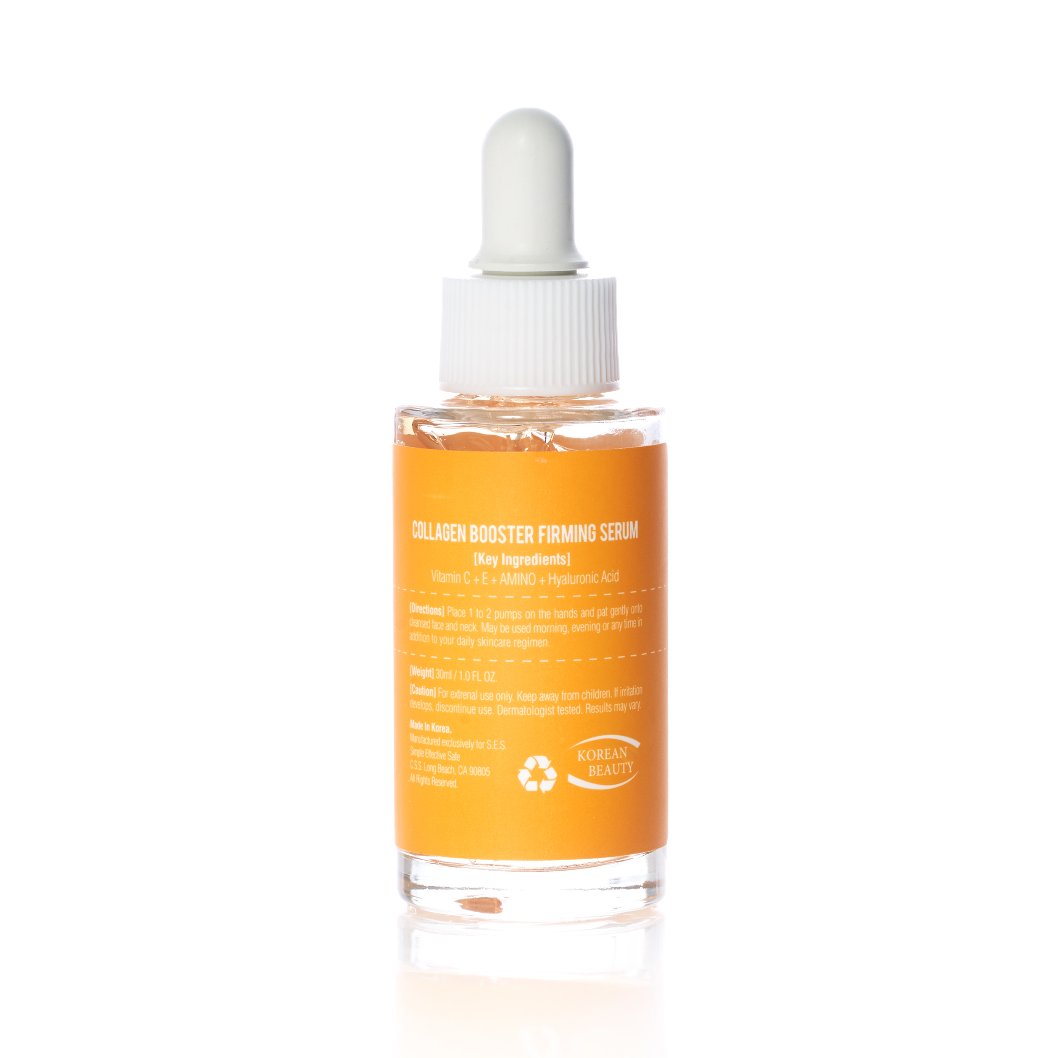 Back of S.E.S. Collagen Booster Firming Serum