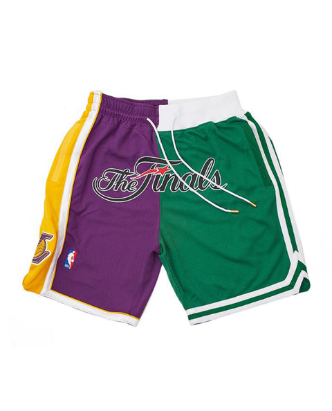 JUST DON NBA SPLIT FINALS LAKERS CELTICS 08 SHORTS