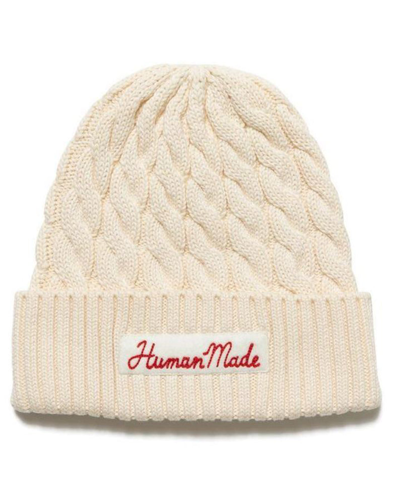 Cotton Cable Beanie White