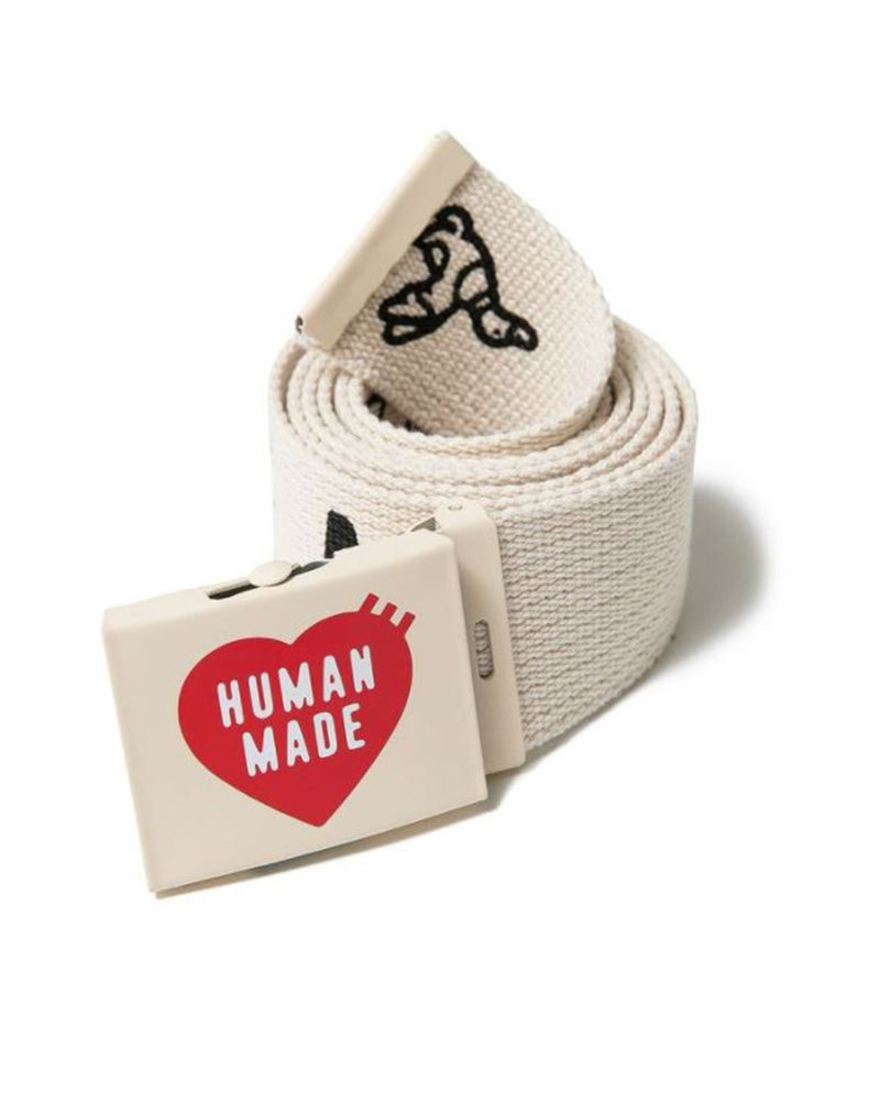 Human Made Web Belt 50 White