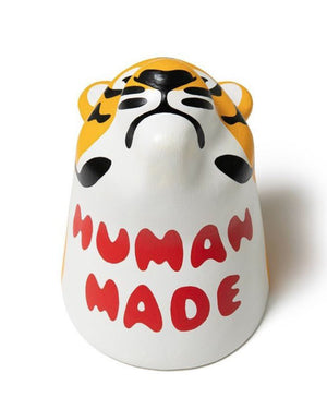Tiger Trophy Paper Mache Yellow