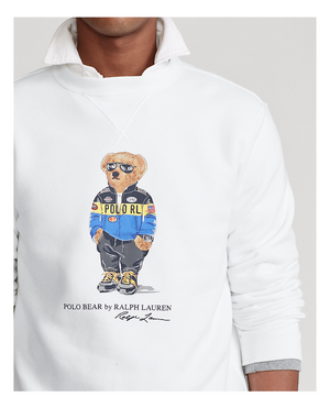 Ralph Lauren Polo Bear Fleece Sweatshirt White