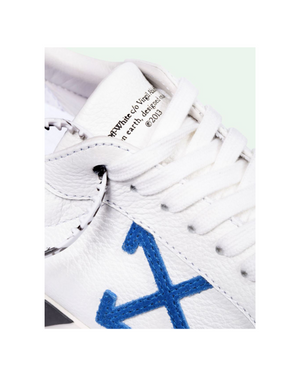 Off-White Low Vulcanized Calf Leather White-Blue