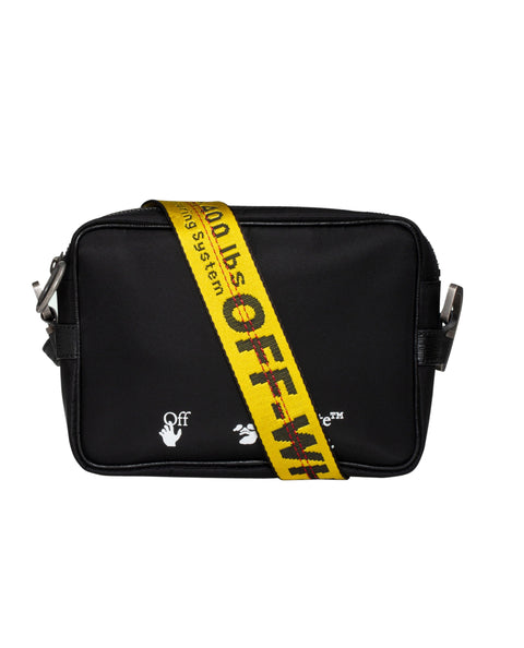 OW LOGO NYLON CROSSBODY-BLACK WHITE-OS