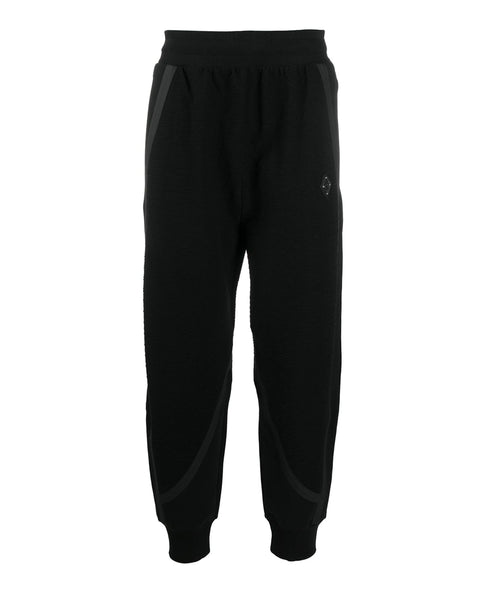 TEXTURED JERSEY PANTS BLACK