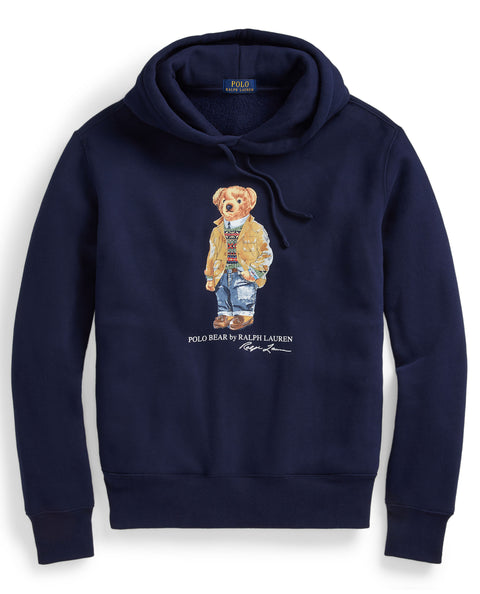 Polar Bear Fleece Hoodie Navy