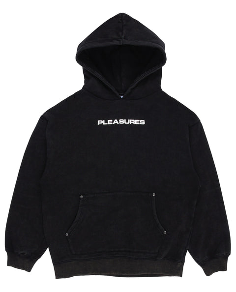 Burnout Dyed Hoody Black