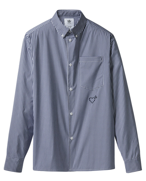 LS BUTTON UP SHIRT HUMAN MADE NAVY