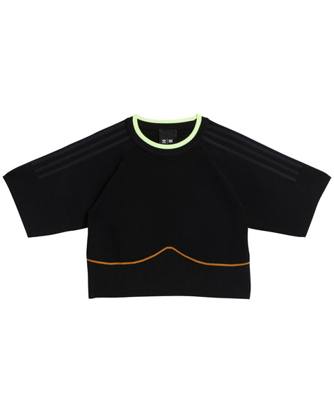 IVP KNIT CROP TOP BLACK PLUS SIZE