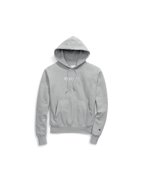 STASHED CHAMPION EMBROIDERED HOODIE