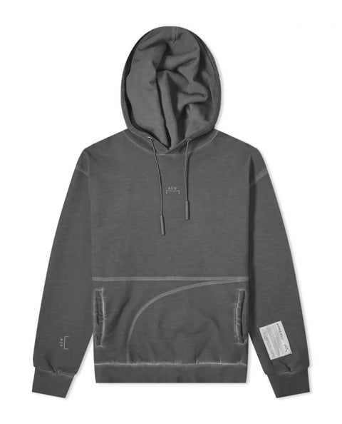 KNITTED CLASSIC FLAT OVERLOCK HOODIE GREY