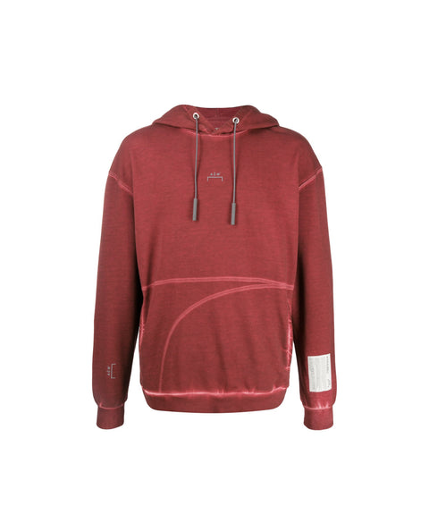 KNITTED CLASSIC FLAT OVERLOCK HOODIE RUST