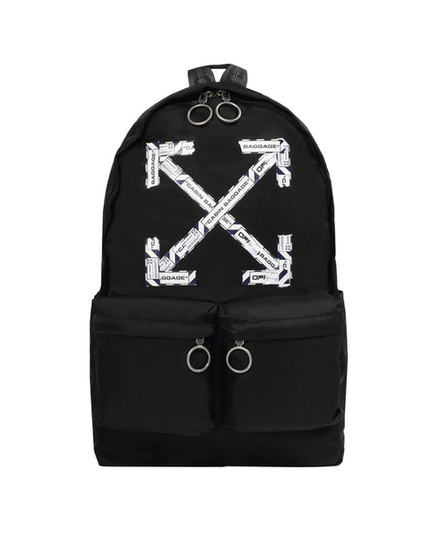 AIRPORT TAPE BACKPACK-BLACK MULTI-OS