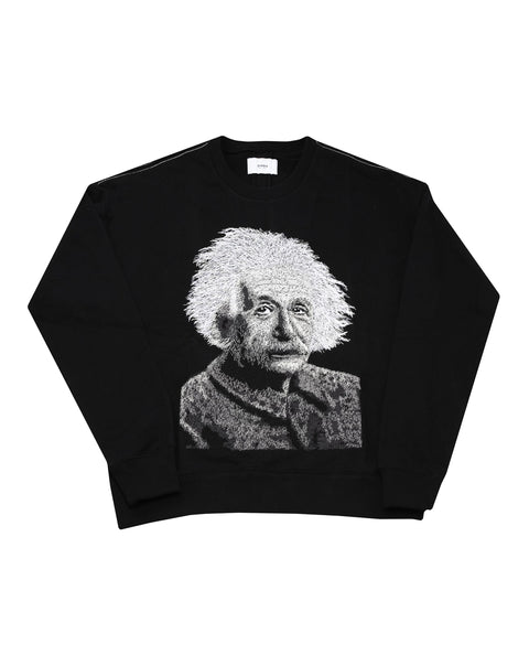 EINSTEIN EMBROIDERED CREW