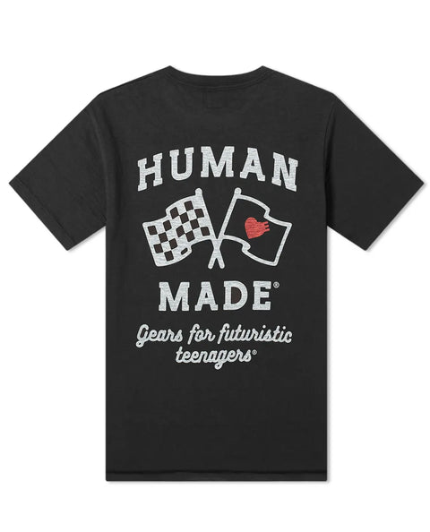 HUMAN MADE DRY ALLS HEART FLAG POCKET T-SHIRT