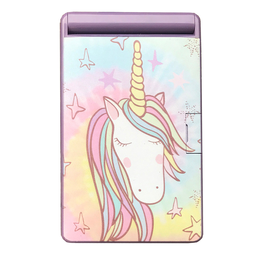 Tye Dye Unicorn Light Up LED Compact Mirror