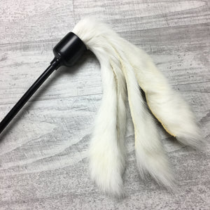 Short Rabbit Fur Teaser Cat Toy