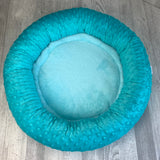 Turquoise minky bed
