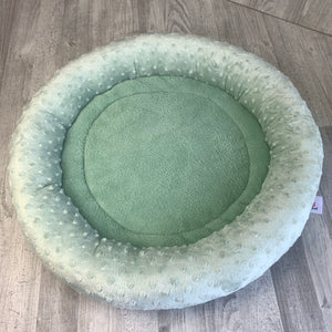 Sea green minky bed