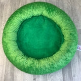 Grass green minky bed