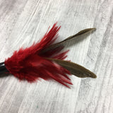 Pheasant duster cat teaser toy