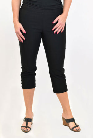 Ethyl Bengaline Capri With Basic Rings - Blingz Jeanz and Thingz