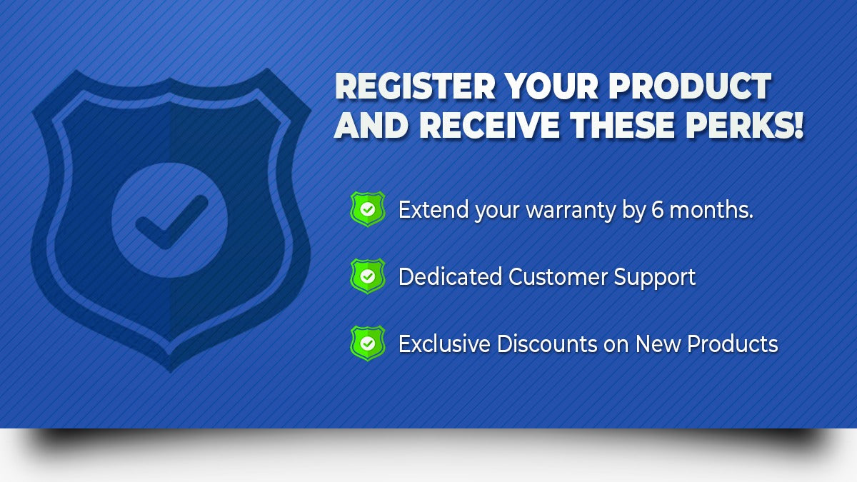 Warranty Registration Benefits from Crave