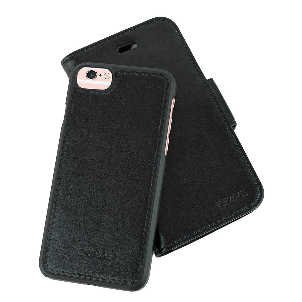 Black Apple iPhone 6 6s Case Vegan Leather Wallet Cover by Crave var-4873694150697