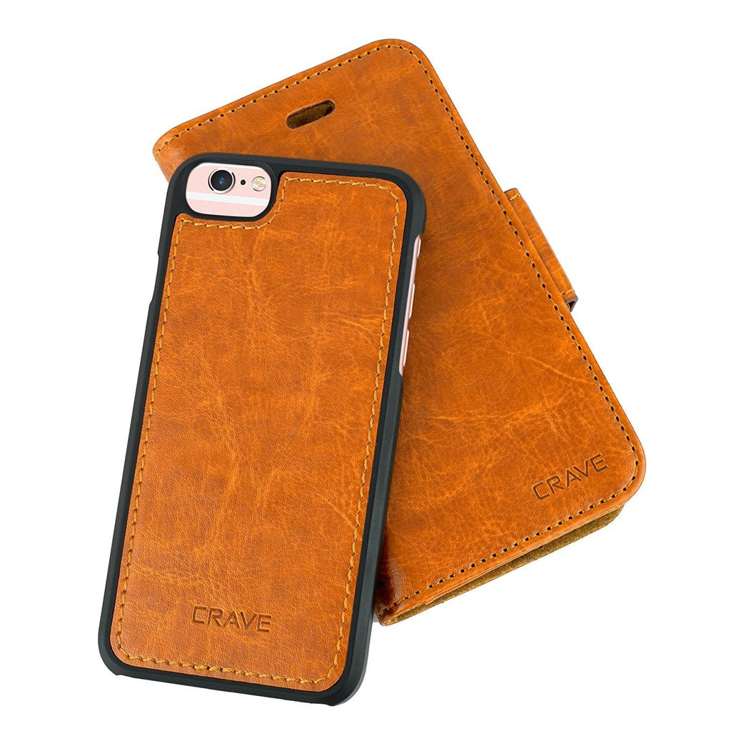 Brown Apple iPhone 6 6s Case Vegan Leather Wallet Cover by Crave var-4873694314537