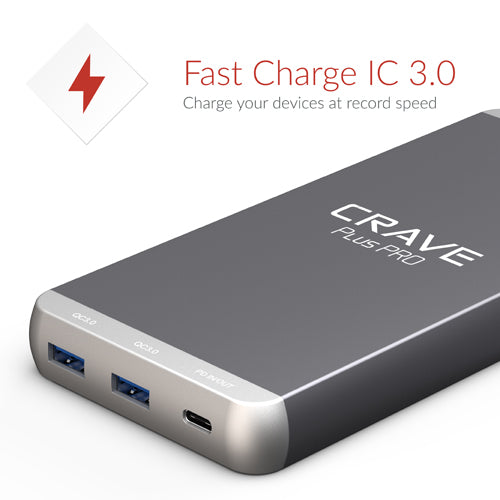 Crave PLUS PRO Portable Charger with PD + QC 3.0 + Type C